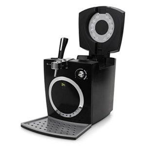Klarstein Hopfenthal Schwarz Bierzapfanlage Zapfanlage (5 Liter, geräuscharme Kühlung, Pumpsystem ohne CO²-Patrone) silber - 3