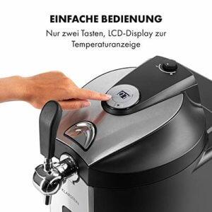 Klarstein Beerkules Bierzapfanlage Bierkühler - für alle 5 l Fässer mit und ohne Zapfsystem, Druckmittel: CO2, inkl. 3 Patronen, Kompressionskühlung: Kühltemperaturen von 2-12 °C, silber-schwarz - 3